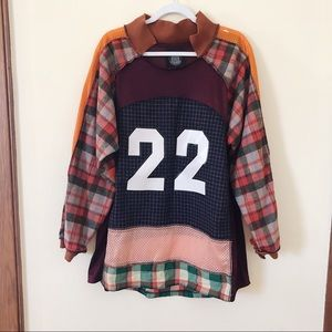 Urban Outfitters Upcycled Street Style Flannel Top